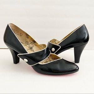 Alice + Olivia Black Mary Janes Pumps Heels 11